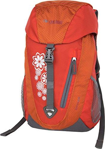 Crossroad Juno 14 Liter orange Kinderrucksack Flowers wasserabweisend Wanderrucksack Kinder Rucksack Mädchen Jungen mit verstellbaren Brustgurt