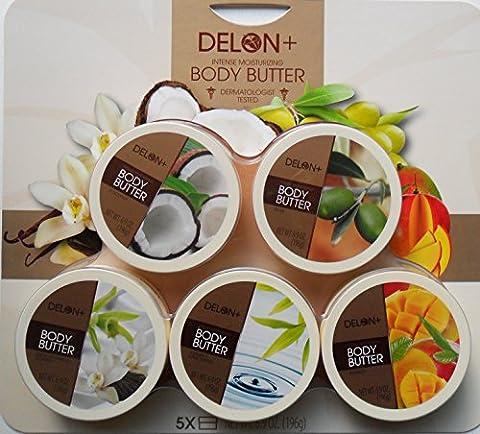 New Delon+ Intense Moisturizing Body Butter 196g 5 Pack Sealed/ Dermatologist Tested