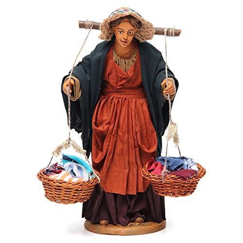 Holyart Donna con cesti di Panni presepe Napoletano 30 cm