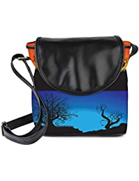 Snoogg Abstract Tree Background Womens Sling Bag Small Size Tote Bag