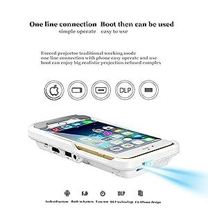 Snail ShopProjecteur Vidéo Portable pour iPhone 7/6 / 6s plus / Série Android 400Lumens / 100 ANSI LED 854 x 480 HDMI - Projecteur pour Télévision Cinéma Partage de Photo Jeux Vidéo