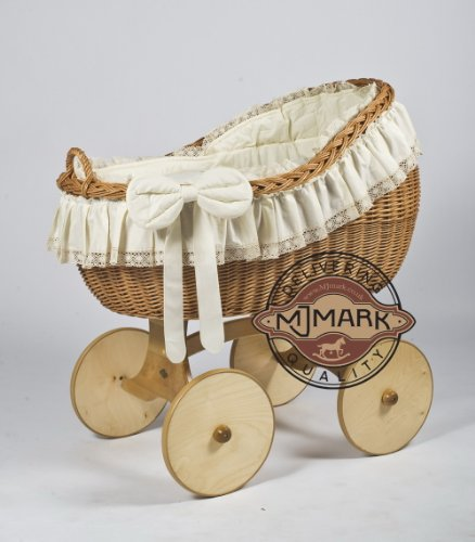 Stubenwagen Komplett Bollerwagen Stubenwagen Babykorb Bianca Ant Cream