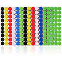 """Miracle Market 300 Pairs (600 pcs) of Colorful Hook and Loop Self Adhesive Fastener Dots 