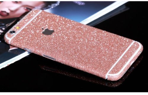 Fashionfort-integrale in vinile, decalcomania, Cover adesiva per iPhone 4, 4s, 5, 5s, 5c, 6, 6 Plus/6s, argento, iPhone 6/6s Light Pink (Rose gold)