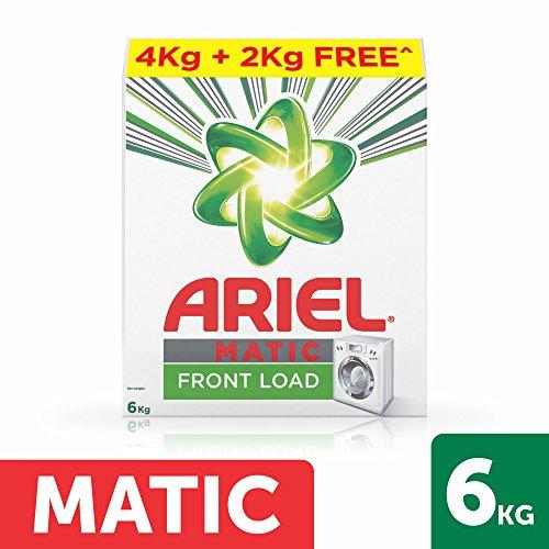 Ariel Matic Front Load Detergent Washing Powder – 4 kg with Free Detergent Powder – 2 kg