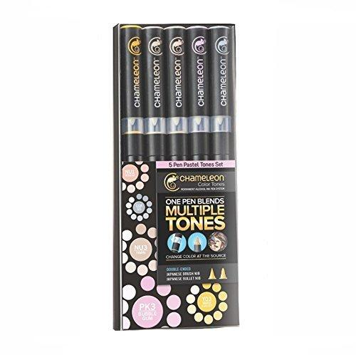 Chameleon Marker Set Pasteltöne mit 5 Stiften