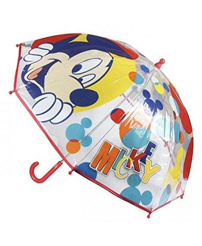 Cerdá Mickey, Paraguas para Niños, Rojo (Rojo 001), One Size (Tamaño del Fabricante:única)