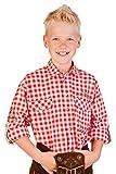 Trachten Kinderhemd - Ki-H026 - Lausbub - rot, türkis, Petrol, Größe 74/80