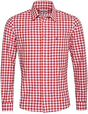 Almsach Trachtenhemd Bartosch Slim Fit in Rot Inklusive Volksfestfinder
