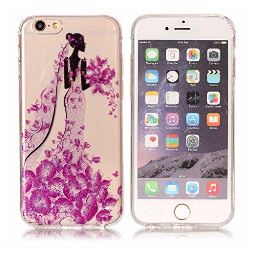 Per iPhone 6 / iPhone 6S Cover , YIGA Moda le onde Cristallo Trasparente Silicone Morbido TPU Case Caso Shell Protezione Copertura Custodia Copertina per Apple iPhone 6 / iPhone 6S (4.7) XS66