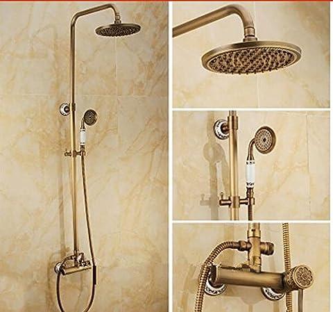 GOWE Bathroom Shower Set Faucet Antique Brass Solid Brass Mixer