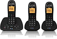 BT 1500 Cordless DECT Phone with Answer Machine (Pack of 3)