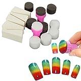 Kanggest 1 Set Nagelkunst Werkzeuge Schwämme Stempel DIY Beauty Nagel Art Werkzeug Zubehör