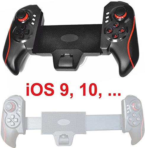 Preisvergleich Produktbild VR3 ROT Bluetooth Spiel Controller GamePad f.Smartphone und Tablet PC zB für: Samsung Galaxy Tab S2 S7 S6 EDGE Note 6 5 4 Tab S2 iPad mini 4 iPhone 7 6S Parrot Gear Bebop VR Google Windows iOS 10