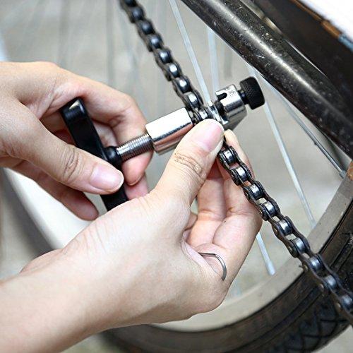 Fahrrad Ketten Werkzeug, Aodoor Werkzeug Kettennietdrücker, Kettennieter für Fahrrad Ketten Entferner Werkzeug, schwarz - 7