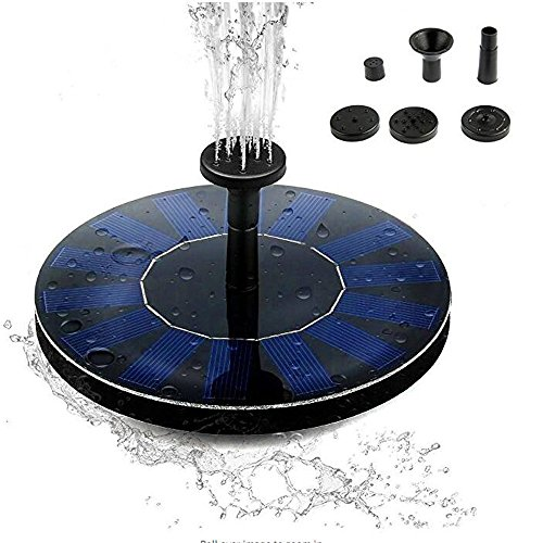 Cyfc Solar-Brunnen-Pumpe, Solar-Stand-Wasserpumpe Panel Kit Künstliche Outdoor Brunnen Teich, Pool, Aquarium, Garten Dekoration, Etc. Bewässerung Floating Pump