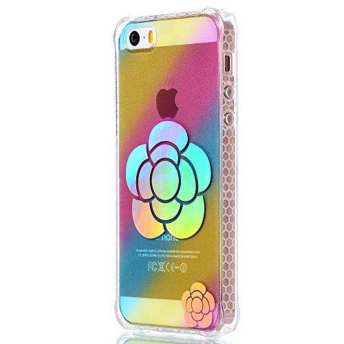 """iPhone 5s Silikonhülle, Mode Elegante CLTPY iPhone SE Slim Fit Schutzfall Funkelnder Glänzend Plating Design Case mit Verstärkte Ecken, Ultra Schlanke Hybrid Schale Fall für 4.0"""" Apple iPhone 5/5s/SE  Sonnenblume"""
