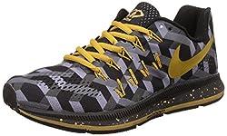 Nike Mens Air Zoom Pegasus 33 Black Running Shoes - 7.5 UK/India (42 EU)(8.5 US)(889350-991)