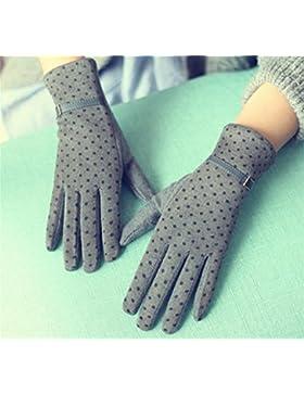 QKR&bellissimi guanti Autunno e in inverno Può touch screen breve paragrafo guanti punto dell'onda Pelle Cinque...