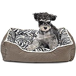LEI ZE JUN UK- Cama de perro de lujo antideslizante Pet House cojín desprendible Cachorro cálido sofá cueva de gato Casa de mascota ( Tamaño : S )