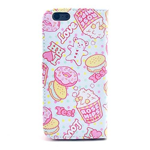 """MOONCASE iPhone 6 Case Motif Conception Coque en Cuir Portefeuille Housse de Protection Étui à rabat Case pour iPhone 6 (4.7"""") P20"""