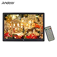 ‏‪Andoer 15.4 Inch Digital Photo Frame LED 1280 * 800 Resolution Photo Album 1080P HD Video Playing with Remote Control Music Movie Clock Calendar E-Book Gift‬‏