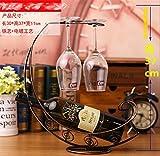 MEILI Può essere appeso 2 bicchiere alto titolare portabottiglie vino ornamento decorazione dell'armadio , 2
