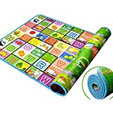 Spandal Baby Mat, Baby Play Mat,Waterproof, Anti Skid,Double Sided Baby Play And Crawl Mat, 6X5ft