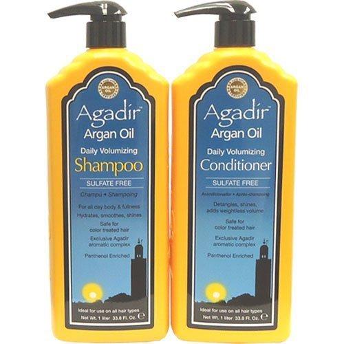 agadir-argan-oil-daily-volumizing-shampoo-and-conditioner-liter-combo-set-338-oz-by-agadir