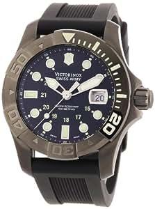 Victorinox Swiss Army 241426-Men's Watch Analogue Quartz Black Rubber Strap