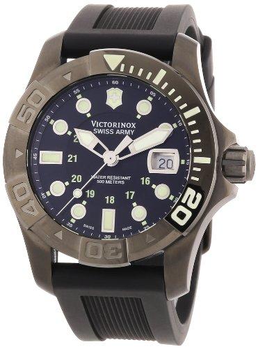 Victorinox Swiss Army - Reloj analógico de cuarzo para hombre con correa de caucho, color negro