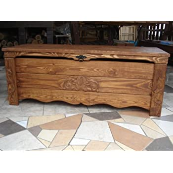 Wooden Blanket Box Coffee Table Trunk Vintage Chest Wooden Ottoman Box (BT1)