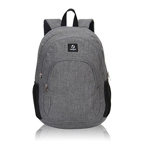 Imagen de veevan school bags  para niños  para universitarios  para portátil para niñas gris