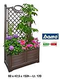 Bama al aire libre flores caja con Espalier,,, 80x 42,5x 150cm, Cocoa, 80 cm