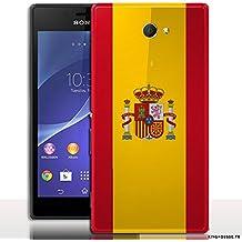 Carcasa Xperia M2–Bandera de España–carcasa de Telephone portátil, Fun y Sonora