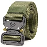 "ALAIX Strong Cobra Tactical Belt Heavy-Duty Quick-Release Big and Tall 1.5"" wide Green"
