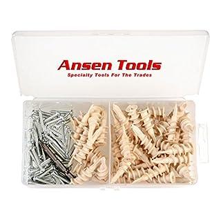 Ansen Tools an 127 Nylon Self-Drilling Anchor & Screw Drywall Kit 100Piece
