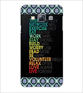 PrintDhaba Quote D-4097 Back Case Cover for SAMSUNG GALAXY A3 (Multi-Coloured)