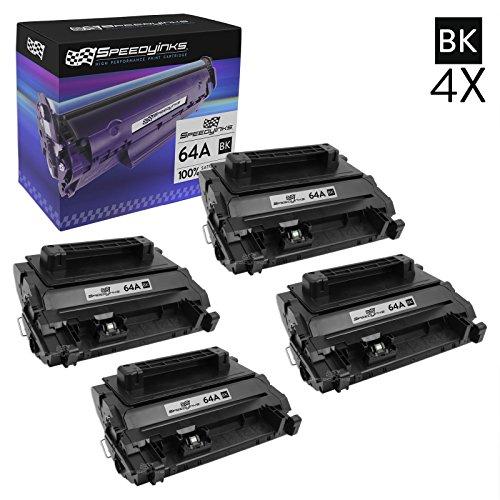 4 X Neue Toner (Speedyinks™ Neue Version kompatibel ersatz 4er setHP 64A / CC364A schwarz Laser Toner Patronen für den Gebrauch in LaserJet P4014, P4015, P4515 un M4555 Drucker)