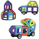 Blocs construction magnétiques Innoo Tech 76 Pièces mini jeu construction cadeau éducatif et créatif(Livret d'instructions et sac de voyage inclus)pour les enfants Permet à votre enfant d'apprendre les formes et les couleurs en jouant