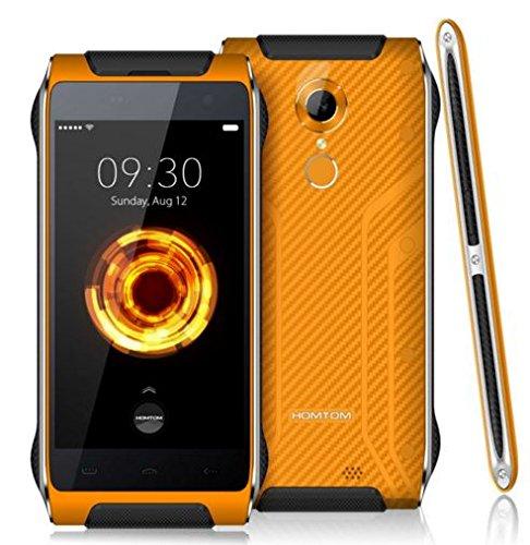 Homtom HT20 - Stylishness e più sottile IP68 smartphone impermeabile tenacità Android 6.0 con vetro Gorilla 4.7 pollici quad-core a 1,3 GHz 2 GB di RAM 16 GB Lettore di impronte digitali spessore 13 millimetri - arancia