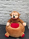 #3: SANA Cute Dog Shape Imported Premium Quality Soft Toy Chair/seat for Baby Sitting/Soft Toy Chair for Kids Birthday (Color- Red, Size- 42cm)