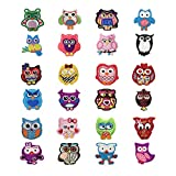 LAMEIDA Aufnäher Stickerei Sticker Flicken dekotativ Dekoration Patch DIY Kleidung Zubehör Reparatursatz kreativ Tieren 24 Stücke size 24pcs (bunt)