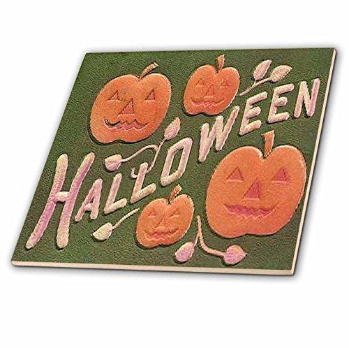 tage Halloween Jack O Lanterns Keramikfliese, 10,2 cm ()