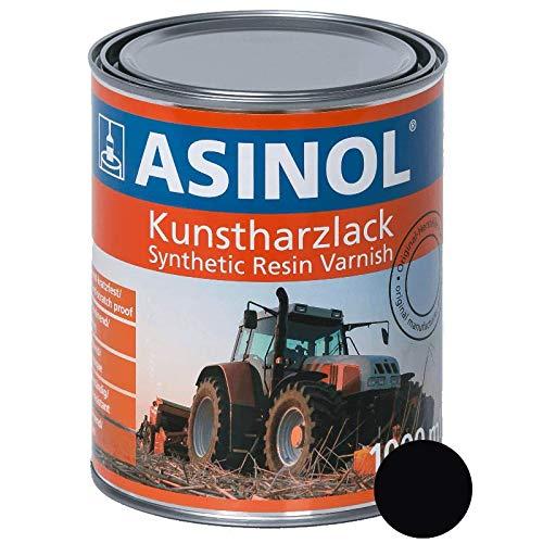 ASINOL Caterpillar schwarz 1.000 ml Kunstharzlack Farbe Lack 1l Liter Dose