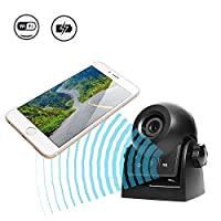 Uzone WiFi Magnetic Wireless Backup Camera Reversing Camera IP68 Waterproof Rearview Camera Hitch Camera for Trailers, Travel Trailers with Smart APP Intelligent Compatible with Android and iPhone