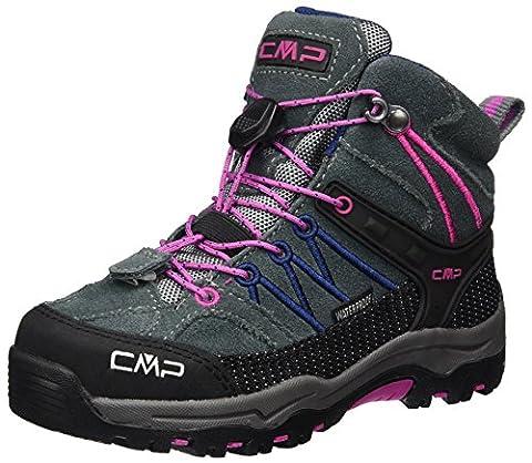 CMP Campagnolo Unisex-Kinder Rigel Mid WP Trekking-& Wanderstiefel, Grau (Grey-Hot Pink), 30 EU