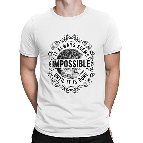 BLAK TEE It Always Seems Impossible Until It is Done Herren T-Shirt S (Beatles-tie-dye-t-shirt)