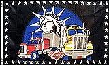 AZ FLAG Bandera Solamente Camiones 150x90cm - Bandera Truckers Only 90 x 150 cm