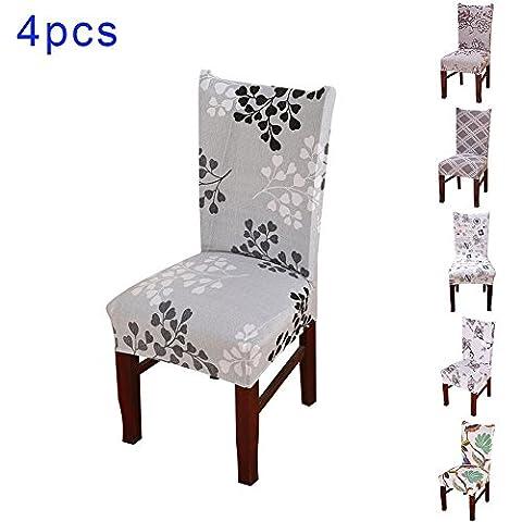 Rideaux Largeur 42 Cm - Pack de 4 housses de chaises à